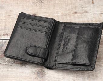 Leather Wallet Mens Wallet Genuine Leather Wallet Bifold Wallet Custom Gift Minimalist Wallet Black Handmade Wallet Birthday Gift for Men