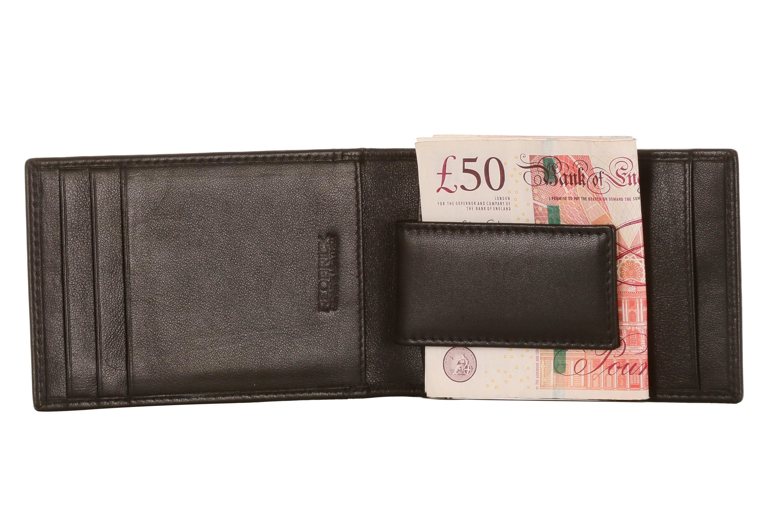 REDBRICK LONDON MENS LUXURY GENUINE LEATHER BLACK WALLET CREDIT CARD COIN POCKET