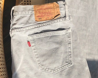 103bd50c999 Vintage LEVIS 90s jeans Classic 501 jeans Light gray faded 36 x 36