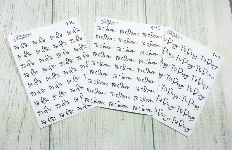 To Do Script, To Buy Script, To Clean Script, Planner Stickers, Functional  Stickers, Erin Condren, Handlettered Scripts