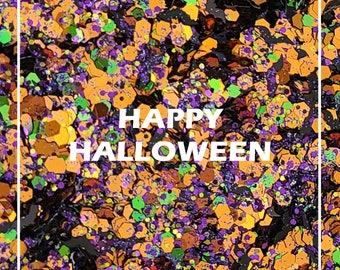 Halloween chunky glitter mix | Mixed glitter Bats | Glitter for body, face hair and nail | Loose glitter for Resin nail supplier crafts