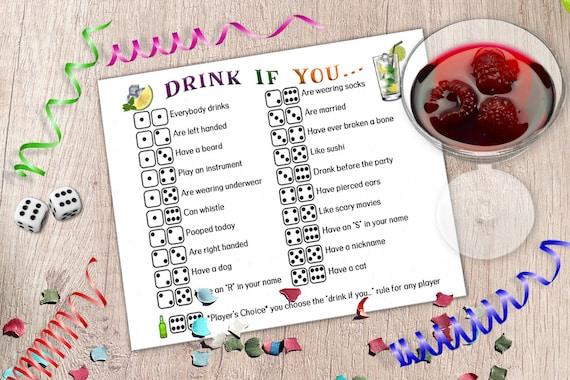 diy dice drinking games