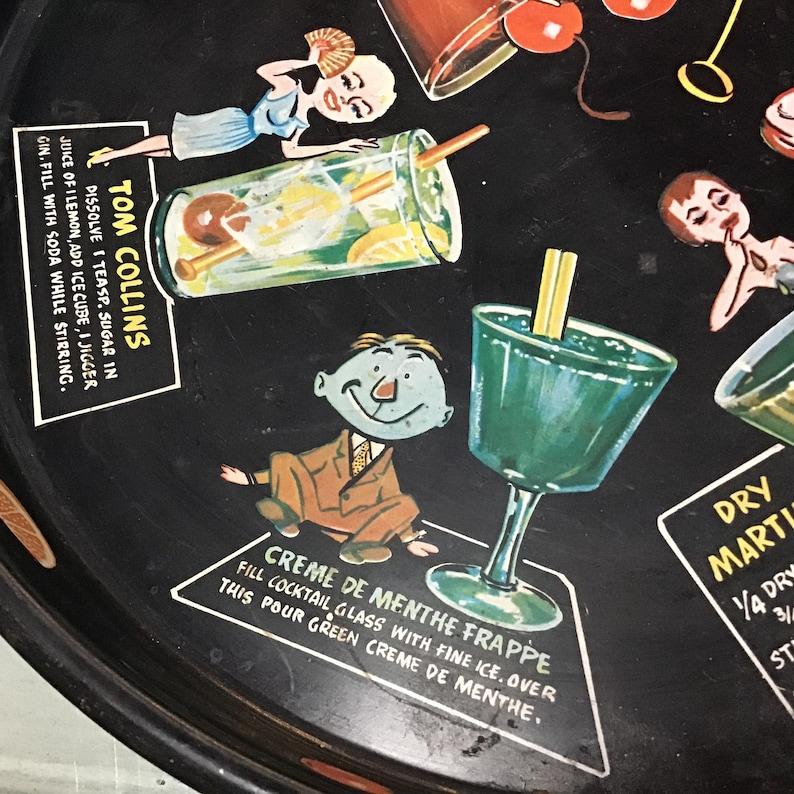 Masonware Joe Carpenter Recipe Bar Drink Cocktail Serving Tray