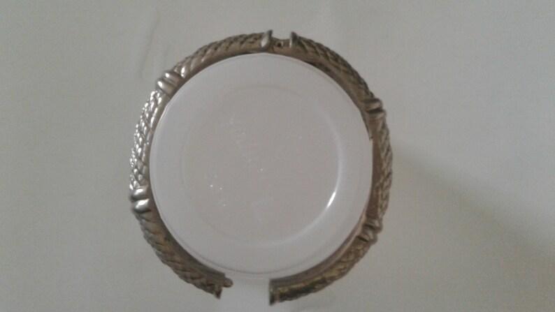 snake skin pattern vintage clamper bracelet silver tone snake cuff vintage hinged silver bracelet reptile bracelet