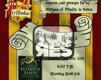 Ravenclaw Theme Book Club Invitation Harry Potter Invitation Etsy