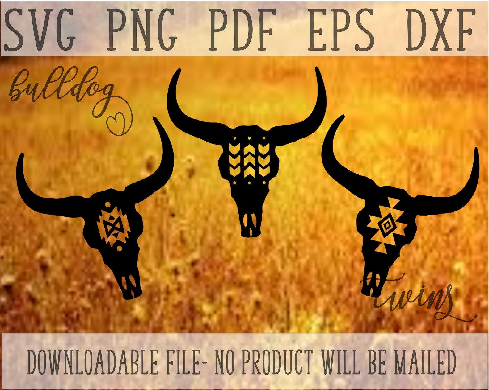 Download Navajo Patterned Cow Skull SVG Aztec Print Skull Set Bull ...