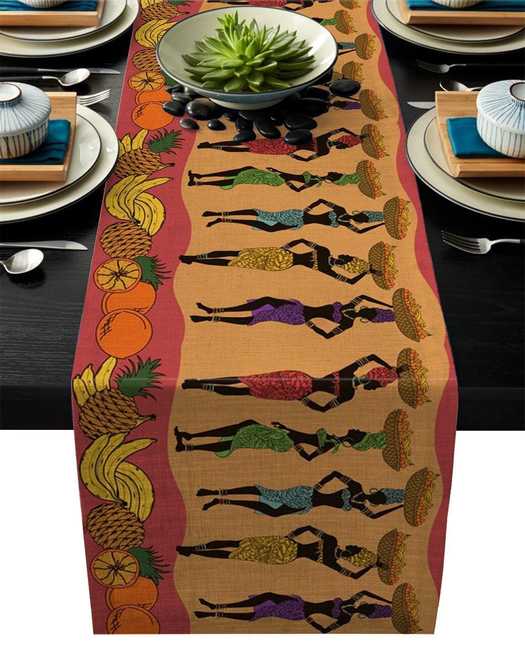 tischläufer tischläufer afrikanische frauen obstkorb küche