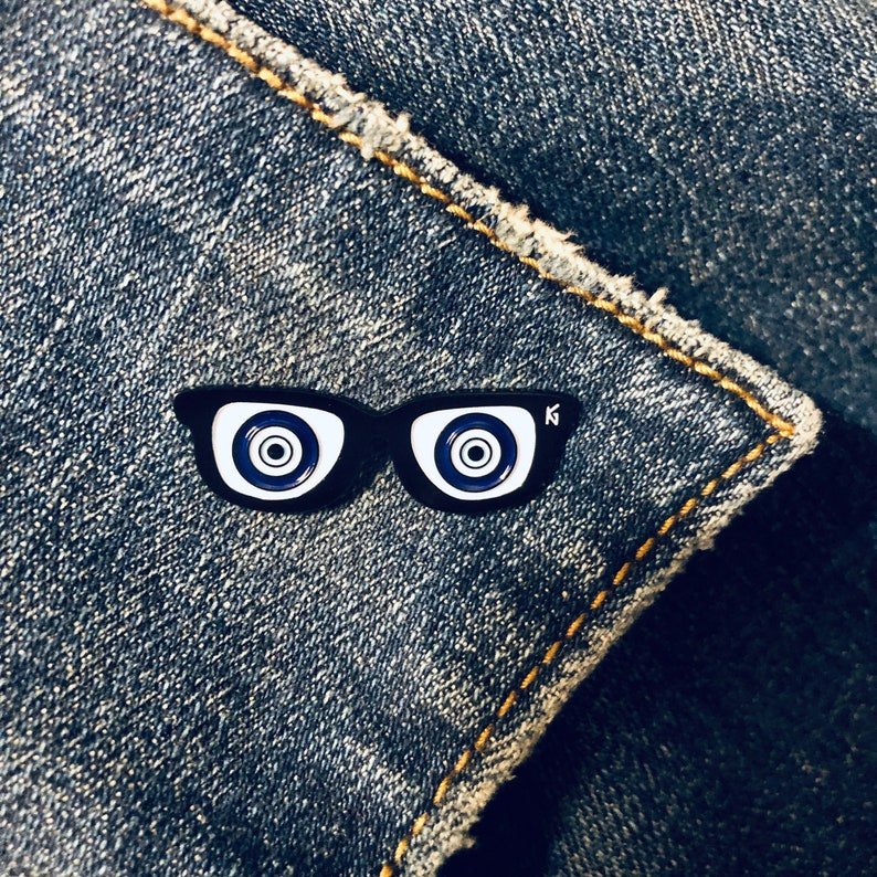 Optometry Glasses Pin- Ophthalmology/ Evil Eye / MediPins /MediPin / Enamel  Pin /Eye / Medical /Nursing / Doctor/ Nursing Gifts / Flair / MD