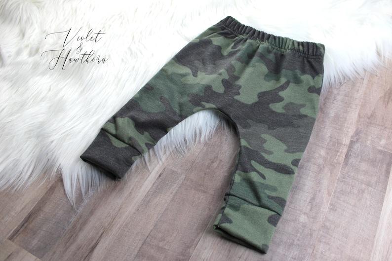 Camo Harem Pants 6-9M Kids Herem Camo Pants Kids Pants- Toddler Pants French Terry Camo Pants Harem Pants Ready to ship