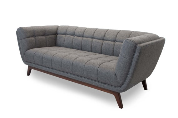 Mid Century Modern Tufted Sofa Contemporary Style Couch