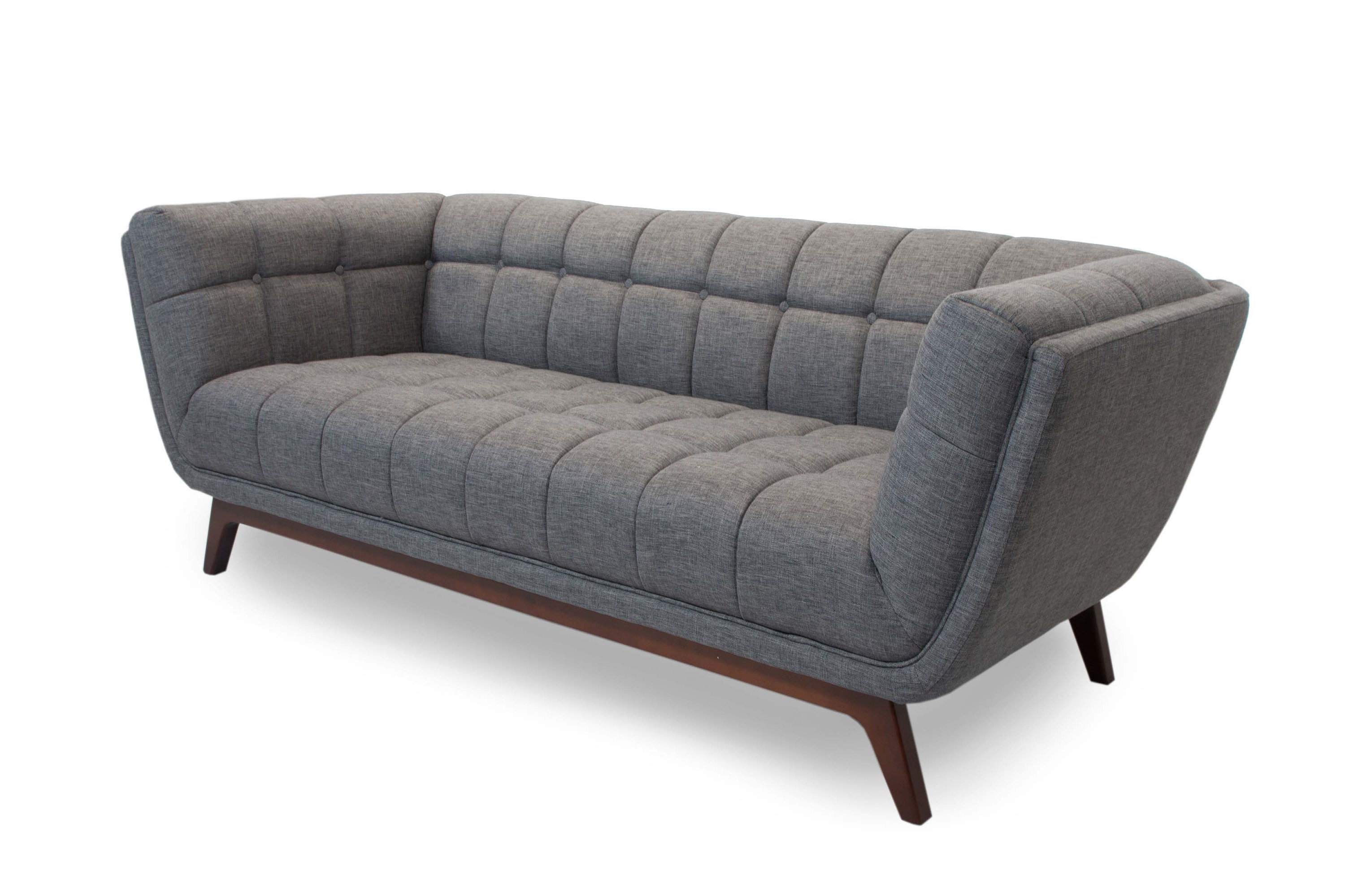 Mid Century Modern Sofa Contemporary Style Tufted Couch Etsy