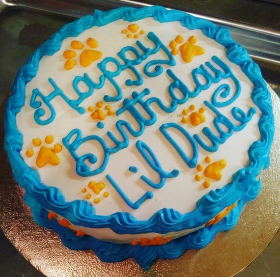 6 Inch Round Traditional Doggie Birthday Cake