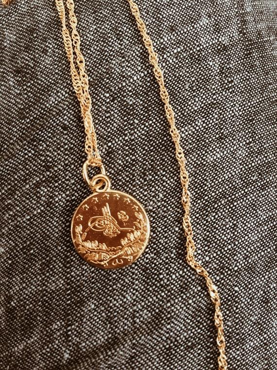 Türkische Münze Gold Halskette Etsy