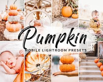 4 Mobile Lightroom Presets Pumpkin, Mobile Lightroom Fall Presets, blogger presets