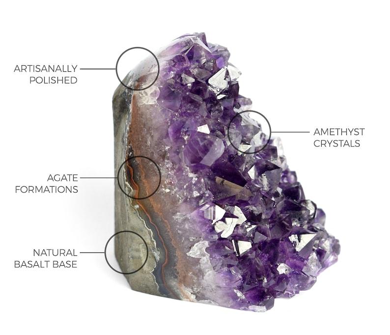 best specimens for each production Amethyst geode amethyst crystal cluster