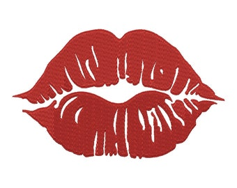 Lips embroidery file kiss pes format,lips pes format doll making lips embroidery in dst,exp,hus,jef,pes,vip,vp3,xxx kiss embroidery file