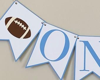 Football Birthday High Chair Banner - Sports Birthday Party Decor, First Birthday, One, Two, Three