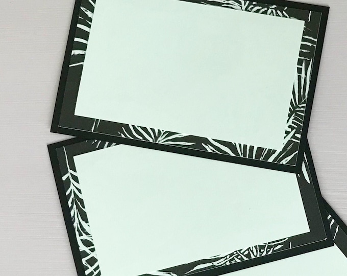 Fern Printed Place Cards (Set of 12) - Classic  Dinner Party Decor, Food Label Cards, Hostess Gift, Escort Cards
