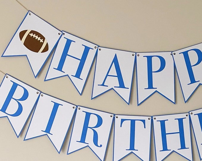 """Football """"Happy Birthday"""" Party Banner - """"GameDay"""" Themed Birthday Party, Sports Birthday, Fall, First Birthday"""