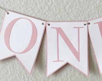 """Small Classic Birthday High Chair Banner - 3.5"""" x 4.75"""" flags, Classic Party Decor, First Birthday, One, Two, Three"""