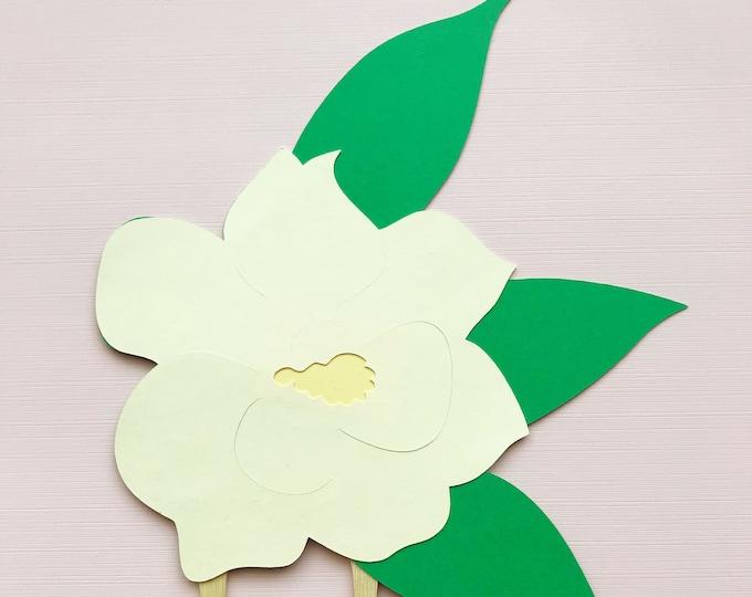 Magnolia Flower Cake Topper - Little Magnolia Baby Shower,  Southern Belle Baby Shower