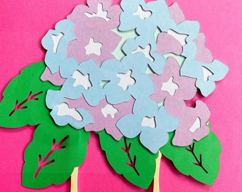 Hydrangea Flower Cake Topper - Floral Party Decorations, Baby Shower, Birthday Party, Garden Party