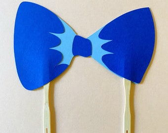 Preppy Puppy Bow Tie Cake Topper - Birthday Cake Decorations, Puppy Party, First Birthday, Little Gent
