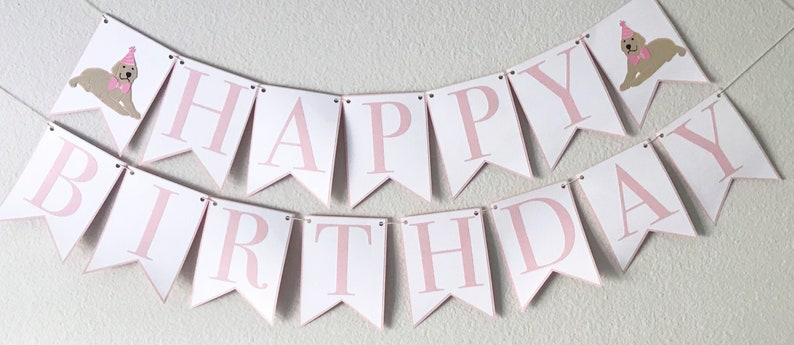 Picture Perfect Pup Happy Birthday Banner  Dog Birthday Party image 0