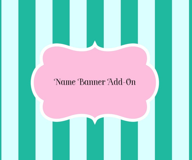 Banner Name Add-On  Add A Name or Number To Any image 0
