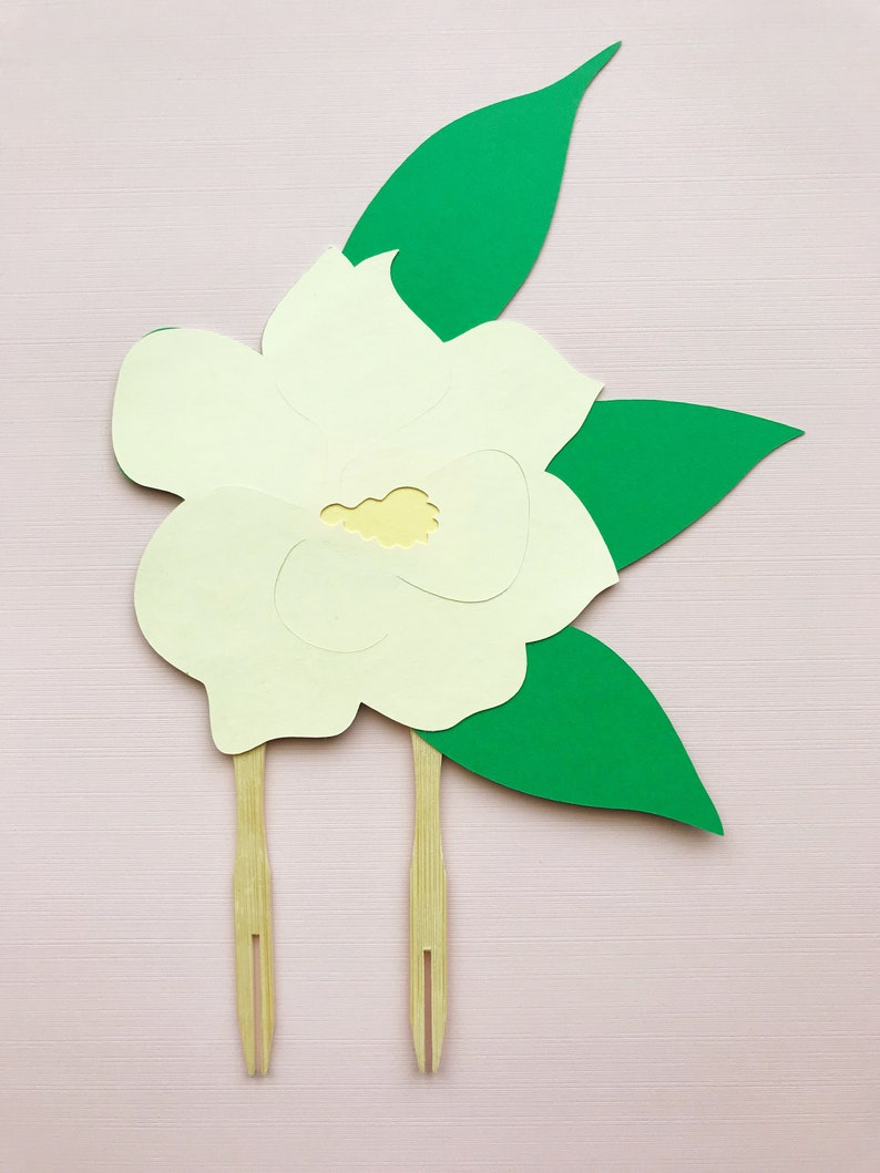62d9eb7b605 Magnolia Flower Cake Topper Little Magnolia Baby Shower