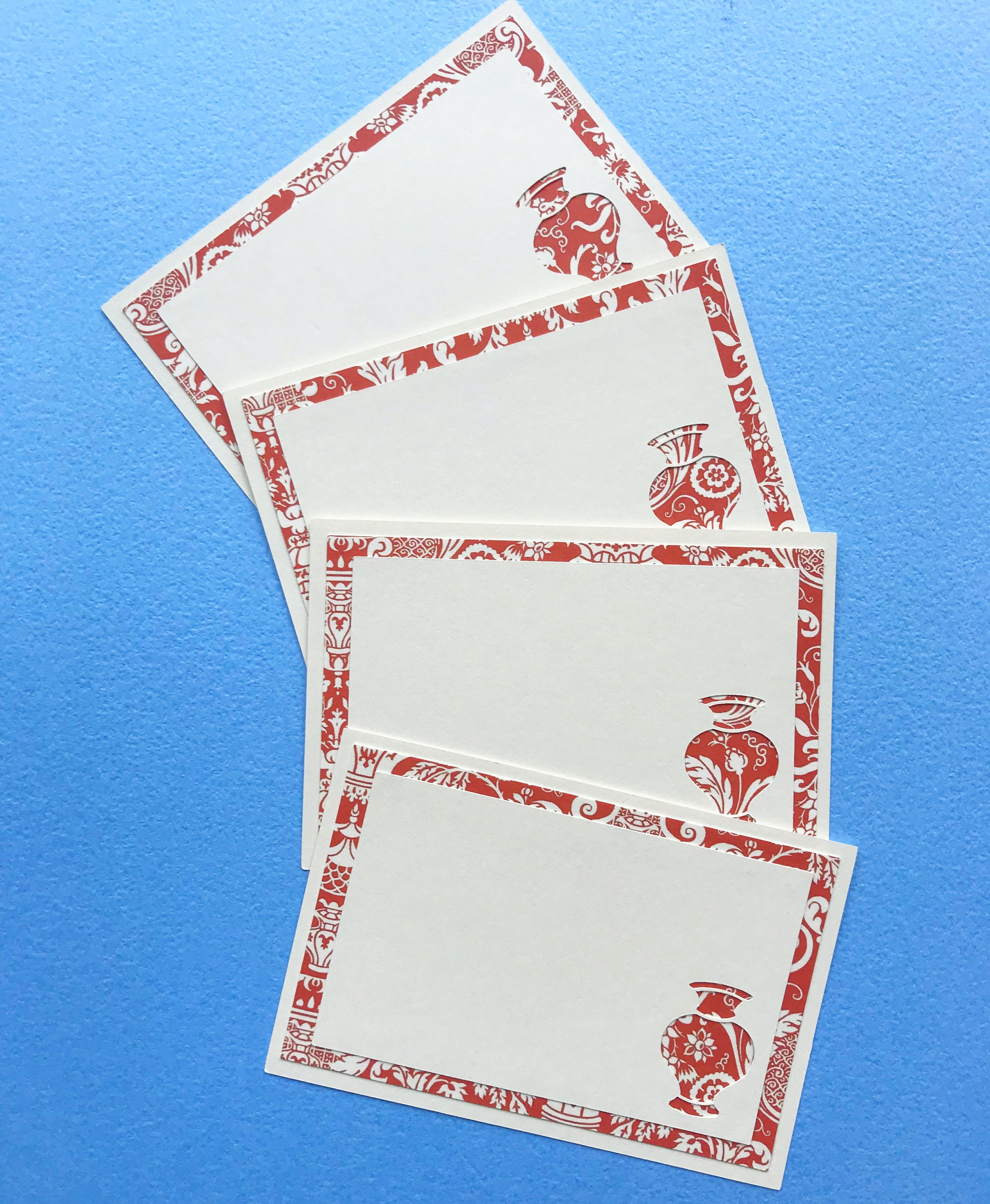 red chinoiserie vase place cards set of 12 red place cards chinoiserie party dinner party wedding escort cards holiday party decor