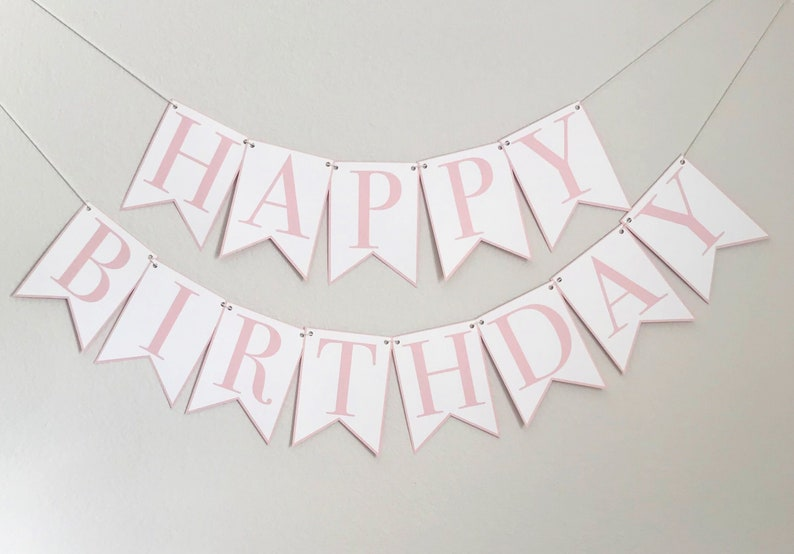 Classic Happy Birthday Party Banner image 0