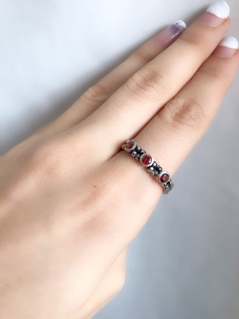 RED STONE RINGS Sterling silver 925 armenian jewellery vintage rings red dress jewelry Armenian rings boho ring wine red stone ring Armenian