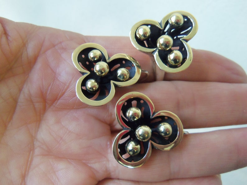 ARMENIAN JEWELRY SET sterling silver 925 gold plated jewelry armenian handmade rare ring flower ring calla lilly jewelry lilly of the valley