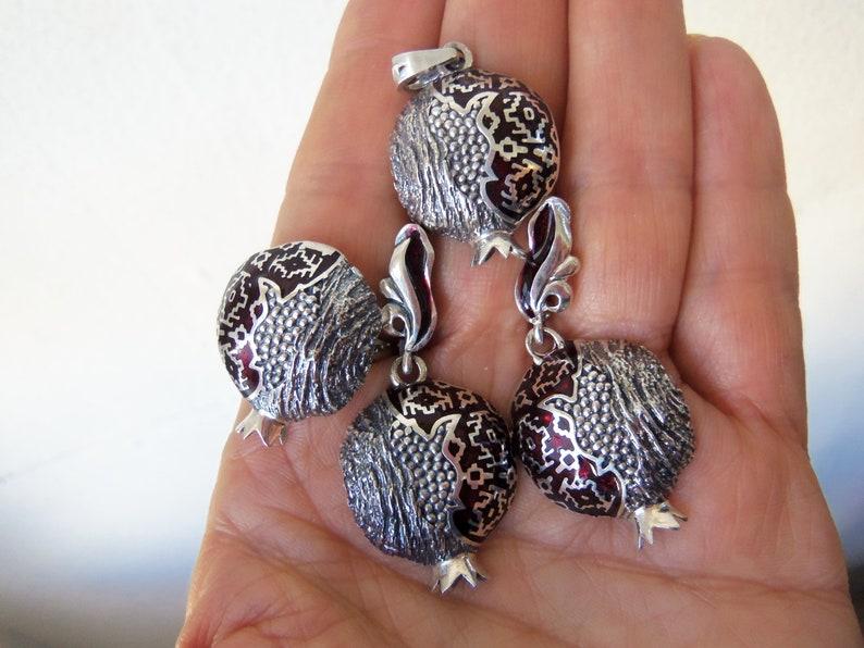 PERSEPHONE POMEGRANATE PENDANT armenian jewelry sterling silver 925 persephone silver pomegranate jewelry pomegranate necklace armenian gift