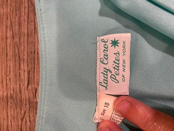Vintage 1970s mint green skater dress. - image 6