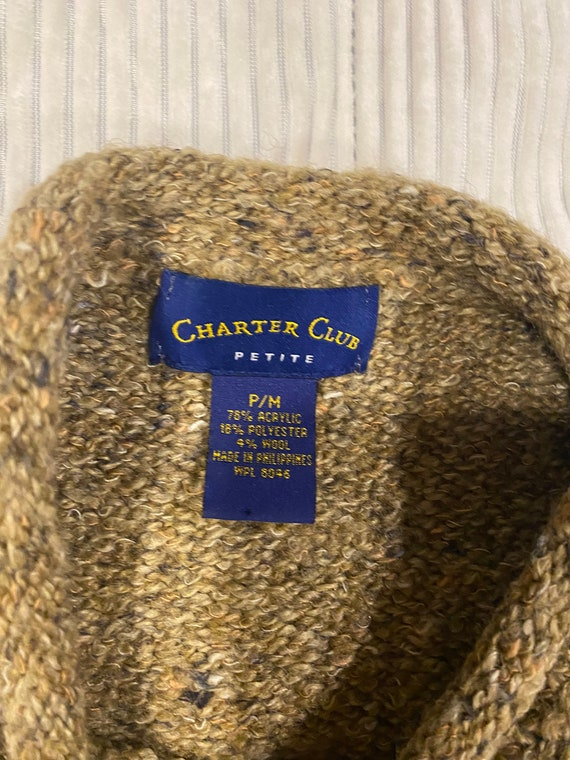 Vintage 1990s Charter club Sailors sweater. Tan - image 6