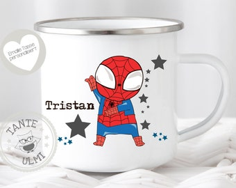 SPIDERMAN HEAT CHANGE MUG CERAMIC COFFEE TEA CUP MARVEL AVENGERS PARKER COMIC