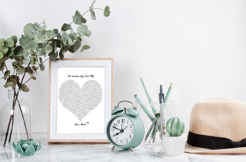 Personalized 100 Reasons Why I Love You PRINTABLE for Anniversary or  Birthday Gift, Reasons We Love You, Gold and Silver Letters Available