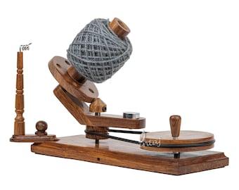 Rosewood Yarn Winder - Large Wooden Yarn Winder for Knitting Crocheting Handcrafted - Heavy Duty Natural Ball Winder - INTAJ