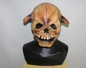 Skull dog mask | Etsy