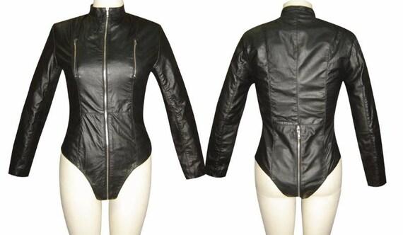 Custom leather catsuit