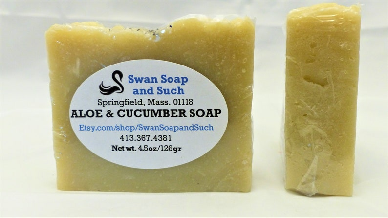 Aloe Vera and Cucumber Handmade  4.5 oz Soap image 0