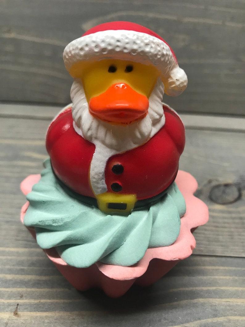 Santa Duck Toy Cupcake Soap image 0