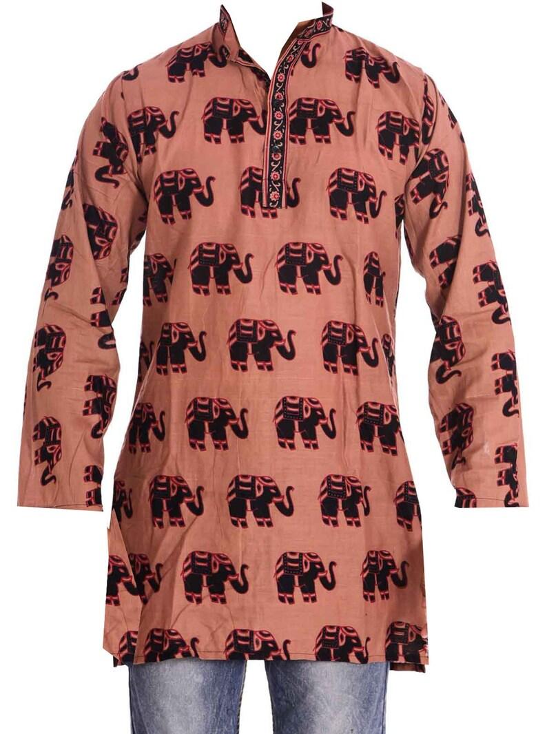 Indian Men's 100/% Cotton Tunic Kurta Solid Shirt Plus Size 5xl 6xl Dark Blue
