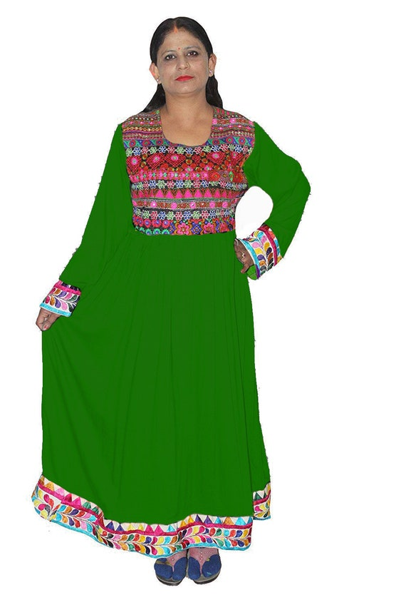 Indian Women/'s Banjara Long Dress Black Color Embroidered Girl/'s Tunic Plus size