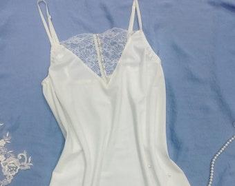 aabb6e5965c White Satin Bridal Slip