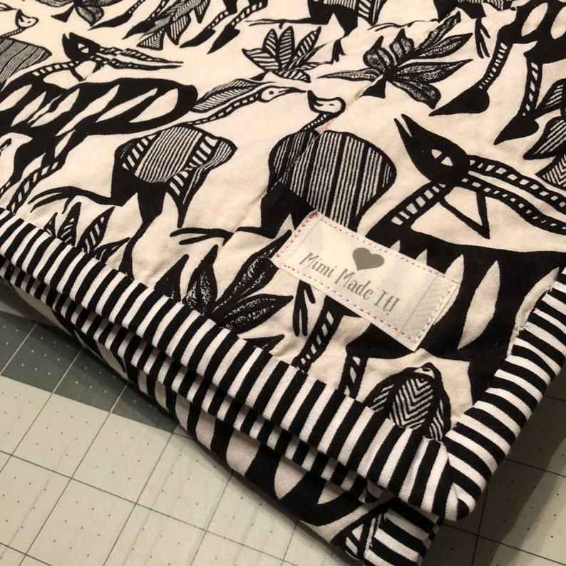 Whole Cloth Baby Quilt; African Wax Print quilt; Baby Boy Blanket; Baby Girl Blanket