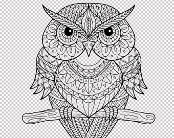 Owl mandala svg | Etsy