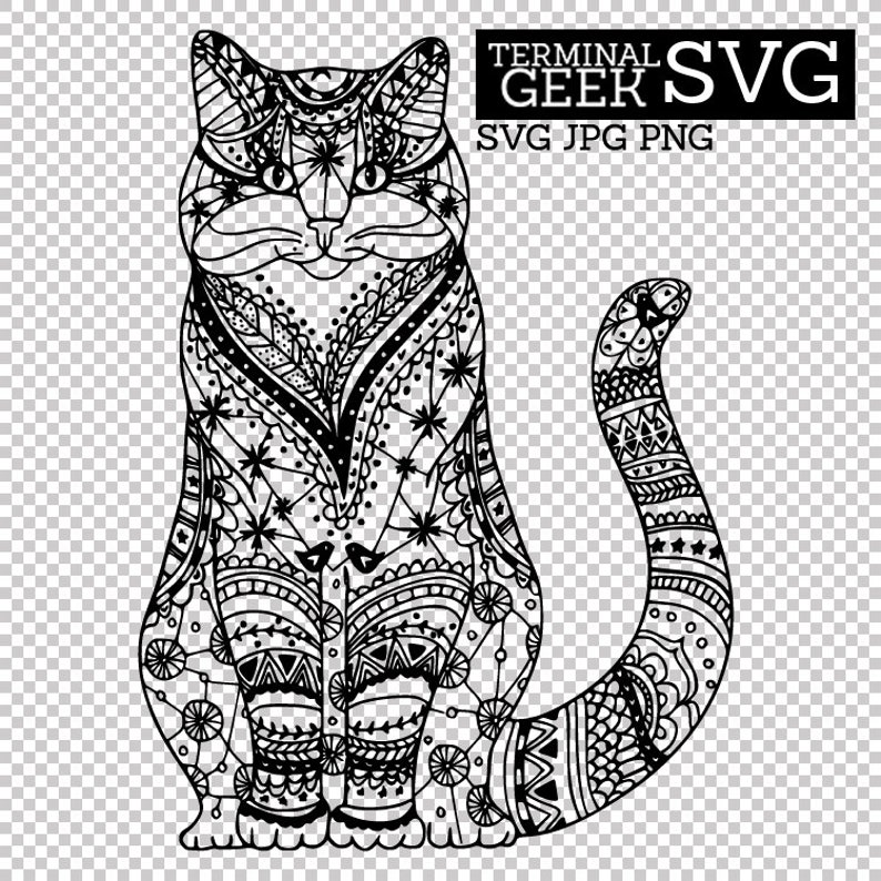 cat mandala svg free